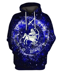 Sagittarius 3D All Over Print | Hoodie | Unisex | Full Size | Adult | Colorful | HT1203