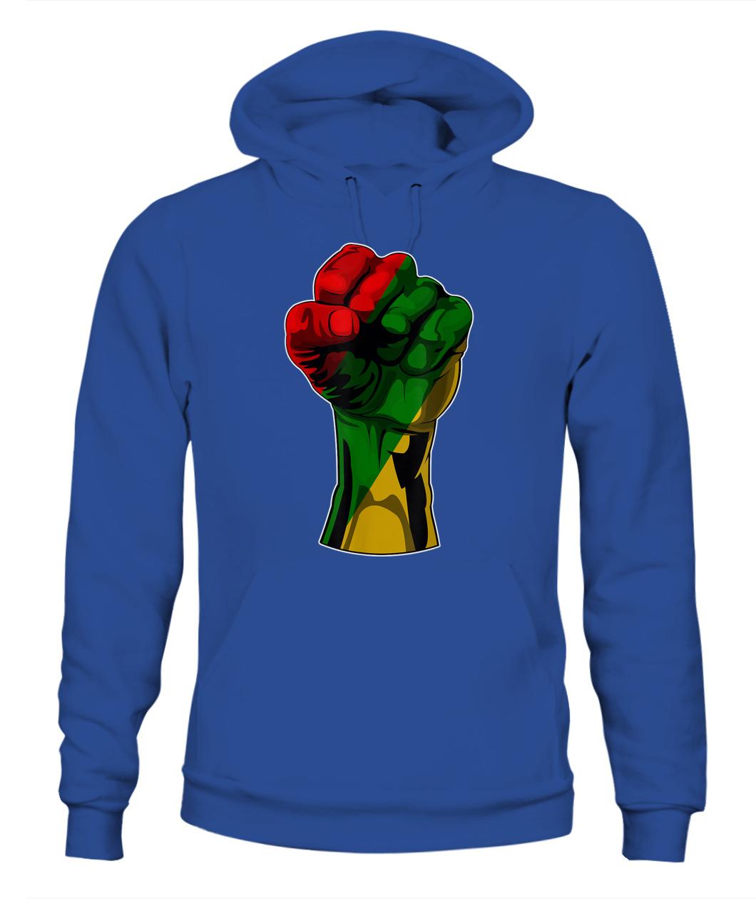 Black History Month Fist T-Shirt Hoodie Sweatshirt Mug