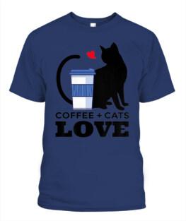 FUNNY CAT LOVER MOM COFFEE SHIRT CAFFEINE ADDICT KITTEN DAD