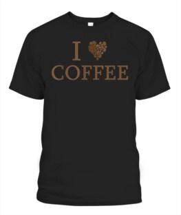I LOVE COFFEE CAFFEINE ADDICT BEAN STATEMENT  T-SHIRT