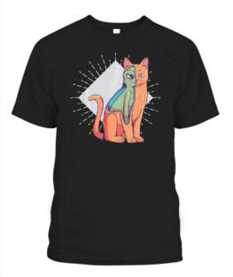 Alien Costume Cat Lover Kitten T-Shirt