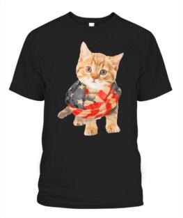 3D Patriotic Cat America Flag T-shirt Ki