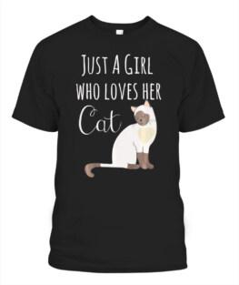 Adorable Siamese Mom Shirt Love My Cat