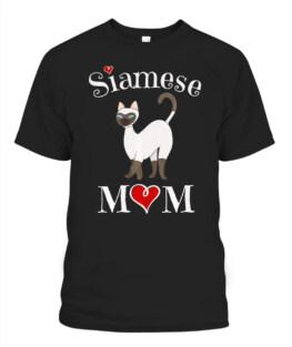 Adorable Siamese Mom T-Shirt Funny Siam