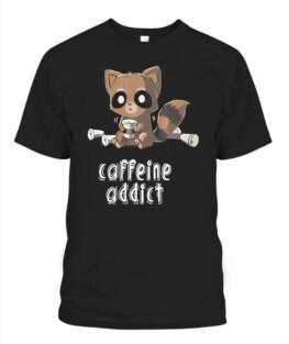 Caffeine Addict Job Office T-shirt  Coffee Tee