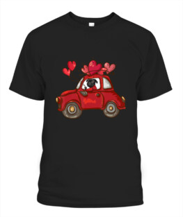 Cute Pug Valentines Heart Love - Pug Lover Valentines Day T-Shirt