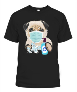 Pug Dog Lover Face Mask Health Flu Cold Cute Pug Gift T-Shirt