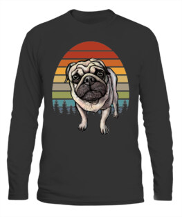 PUG CAMPING LOVER LONG SLEEVE T-SHIRT