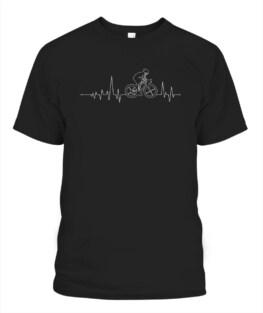 Cycling heart beat shirt for bike lover
