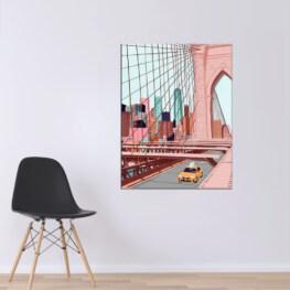 New York Wall Art - Brooklyn bridge Canvas Wall Art