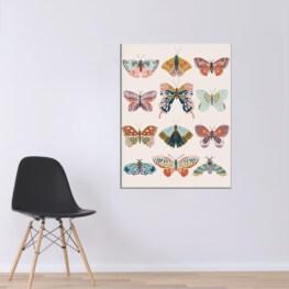 Boho Butterflies Wall Art - Butterfly Canvas Wall Art