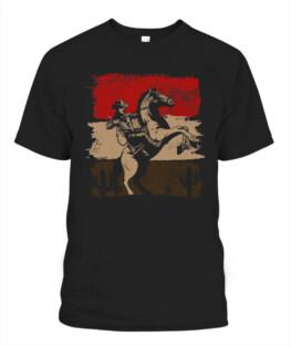 Retro Horse Riding Western Cowboy