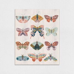 Boho Butterflies Wood Wall Art - Butterfly Wood Wall Art
