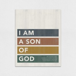 I am A Son Of God Wood Wall Art