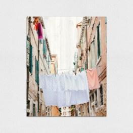 Laundry Room Wood Wall Art - Venice Italy Wood Wall Art