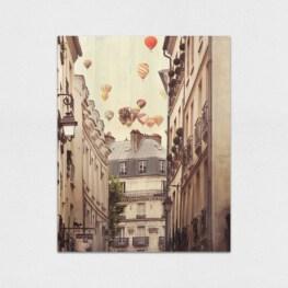 Hot Air Balloons Wood Wall Art - Paris Wood Wall Art
