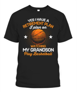 Funny watching my grandson play basketball graphic tee shirts gifts for basketball lover