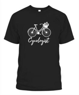 Funny Cycologist Tshirt - Mountain Bike Psychologist Graphic tee shirt for biker men women