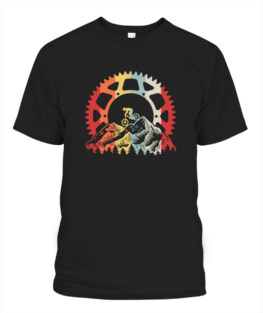 Funny Mountain Biking Gear Retro Vintage Bicycle Bike Rider Gifts Graphic tee shirt for biker men women