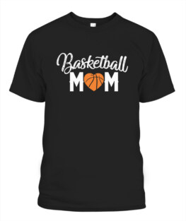 Funny Basketball Mom cute funny heart mothers gift for women graphic tee shirt gifts