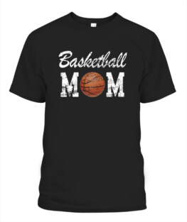 Funny Basketball Mom Cute Novelty Distressed graphic tee shirt gifts