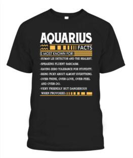 Aquarius Birthday Gifts - Aquarius Facts Funny Aquarius Graphic Tee Shirt Gifts