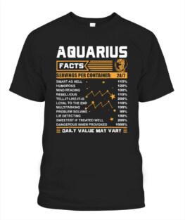 Aquarius Facts Zodiac T-Shirt Funny Aquarius Birthday Gifts Funny Aquarius Graphic Tee Shirt Gifts