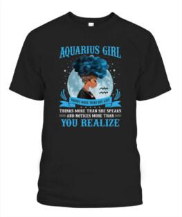 Aquarius Girls Black Queen January February Birthday Funny Aquarius Graphic Tee Shirt Gifts