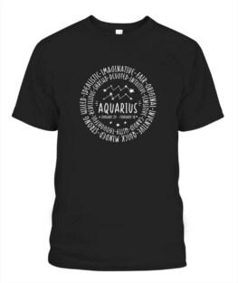 Aquarius Zodiac Shirt- Aquarius Personality Star Sign Funny Aquarius Graphic Tee Shirt Gifts