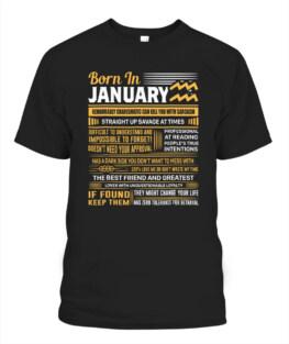 January Birthday Gifts - Born In January Aquarius Funny Aquarius Graphic Tee Shirt Gifts