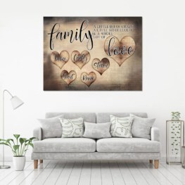 Family a little bit of crazy a lot of love Home Decor Canvas Prints Full Size