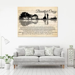 Beautiful Crazy Love Home Decor Canvas Prints Full Size