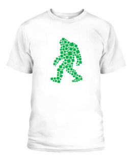 Clover Bigfoot St Patricks Day Gift Sasquatch Shamrock Adult T Shirts Gifts Full Size