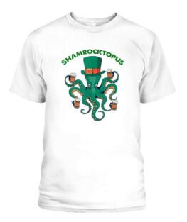 Shamrocktopus Irish Gift St Patricks Day Octopus Leprechaun Adult T Shirts Gifts Full Size