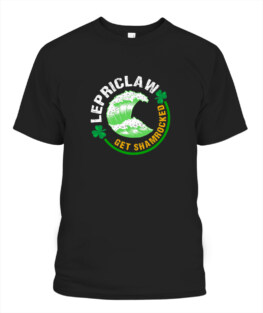 Funny St Particks Day Drinking tee Lepriclaw Get Shamrocked Adult T Shirts Gifts Full Size