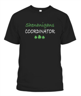 Shenanigans Coordinator Adult T Shirts Gifts Full Size