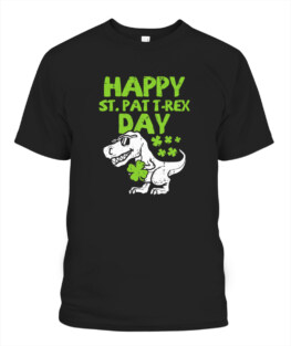 Happy St Pat Trex Day Dino St Patricks Day TShirt Hoodie Sweatshirt