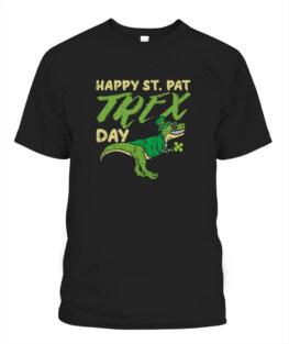 Happy St Pat Trex Day Dinosaur St Patricks Day Dino TShirt Hoodie Sweatshirt