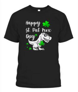 Happy St Pat T-Rex Day Dinosaur St Patricks Day TShirt Hoodie Sweatshirt