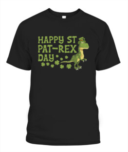 St Patricks Day Dino T Rex Happy Pat-Rex TShirt Hoodie Sweatshirt
