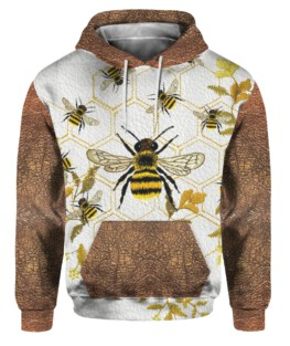 Queen Bee Leather Pattern Print