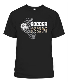 Soccer Mom Leopard Mother's Day 2021 T-Shirt