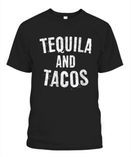 Tequila And Tacos Shirt Funny Mexican Skull Cinco De Mayo T-Shirt