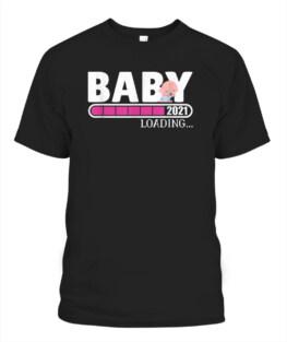 Baby Loading 2021 Pregnancy Shirt Announcement New Parents T-Shirt