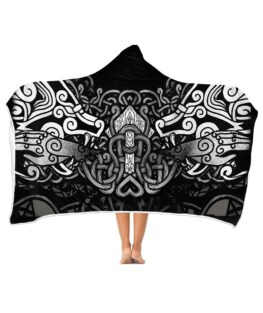 Hand of Tyr Hooded Blanket | Adult 60x80 inch | Youth 45x60 inch | Colorful | HB1182