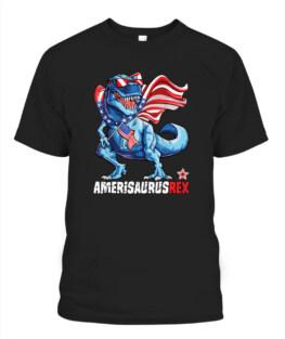 Dinosaur 4th of July Veteran Memorial's Day TShirt Hoodie Adult S-5XL
