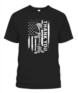 Distressed Memorial Day Shirt Flag Military Boots Dog Tags Veteran Memorial's Day TShirt Hoodie Adult S-5XL