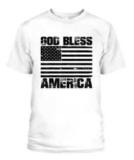 God Bless America Distressed USA flag