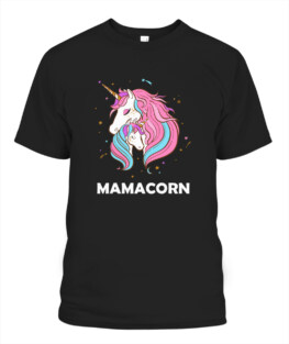 MamaCorn - Unicorn Mommy and Baby Mothers day Gift TShirt Gifts for Mom Full Size S-5XL