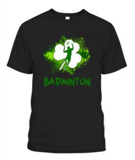 RD TOP BADMINTON SHAMROCK IRISH ST PATTYS DAY SPORT SHIRT FOR BADMINTON LOVER SHIRT